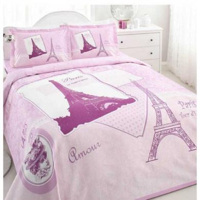 paris eiffel tower pink vintage lightweight summer comforter blanket bedspreads quilts full. Black Bedroom Furniture Sets. Home Design Ideas