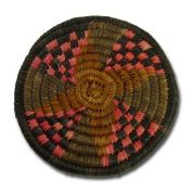 "Coaster ""Zulu"" (set of 6), red/black"