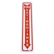 UltraSource 445246 FIRE EXTINGUISHER Sign, 10cm Width x 46cm Height