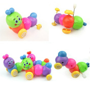 Fun Plastic Safety Wind-up Movement Caterpillar Kids Toddler Colourful Toys