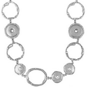 Ginger Snaps 3 SNAP STATION NECKLACE SN90-78 Interchangeable Jewellery Snap Accessory