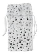 Organza Drawstring Gift Bag Pouches Stars