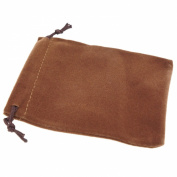 Pack of 50 Brown Colour Soft Velvet Pouches w Drawstrings for Jewellery Gift Packaging, 9x12cm