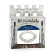 Weave Got Maille European 4-in-1 Chain Maille Bracelet Kit, Silver