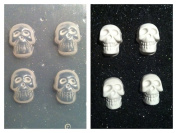 Flexible Resin Mould Set of 4 Small Skulls