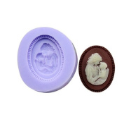 Mom and Baby Silicone Resin Clay Moulds Handmade Resin Mould Polymer Clay Mould