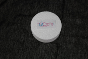 LA Crafts Brand 7.6cm x 2.5cm Smooth Foam Craft Disc - 12 Pack
