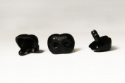 Black Safety Craft Animal Nose for Bear Puppet Doll Made in Japan Style-A 23mm 2pcs/pkg