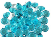 Translucent Acrylic Turquoise 17 Carat Diamonds for Vase Fillers, Table Scatters, or Decoration