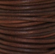 "#403 Natural Red Brown Round Leather Cord 2mm (3/32"") x 10 metres"
