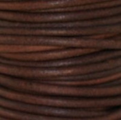 """#403 Natural Red Brown Round Leather Cord 2mm (3/32"""") x 10 metres"""