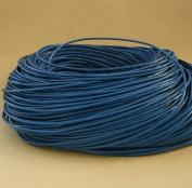 BeadsTreasure 4.6m of Dodge Blue Genuine Leather Cord Round 2 mm Diameter.
