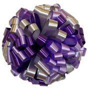 Lavender Purple & Silver Car Bows