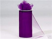 Tulle Roll 15cm By 23m-purple