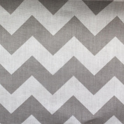 Big Chevron Poly Cotton Grey 150cm
