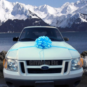 Large Car Bow, 41cm Wide - Baby Blue