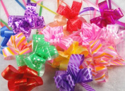 100pcs Plastic Mixed Gift Wrapping Christmas Wedding Decoration Pull Bows