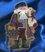 Mill Hill Celebration Santas Christmas Ornament Counted Cross Stitch Kit w/ Glass Beads Joyeux Noel MH204302