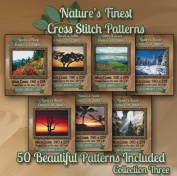 Nature's Finest Cross Stitch Patterns - Collection Three - 50 Beautiful Landscape / Scenery Cross Stitch Designs on CD