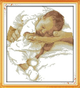 Happy Forever Cross Stitch,baby figure, Gentle caress
