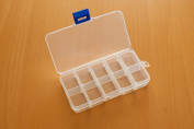Clear Plastic Jewellery, Craft, Beads, Accessories Multipurpose Organiser with 10 Compartments and Adjustable Dividers-3 Pack