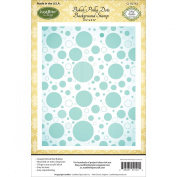 Justrite Papercraft Cling Background Stamp, 11cm by 15cm , Bokeh Polka