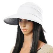 Sealike Chic Butterfly Sun Hat Wide Brim Summer Sun Visor Floppy Fold Beach Hat for Women Girls with Stylus
