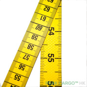 """Dual-Sided Yellow Polyfibre Professional Tape Measure Soft Sewing 200cm/80"""" Germany"""