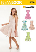New Look Patterns UN6360A Girls' Sized for Tweens Dress, A