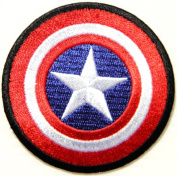 Captain America The First Avenger Shield Marvel Superhero Cartoon Logo Kid Baby Boy Jacket T shirt Patch Sew Iron on Embroidered Sign Gift Costume