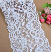 10 yards 15cm Wide Polyester Stretch Embroidery Floral Lace