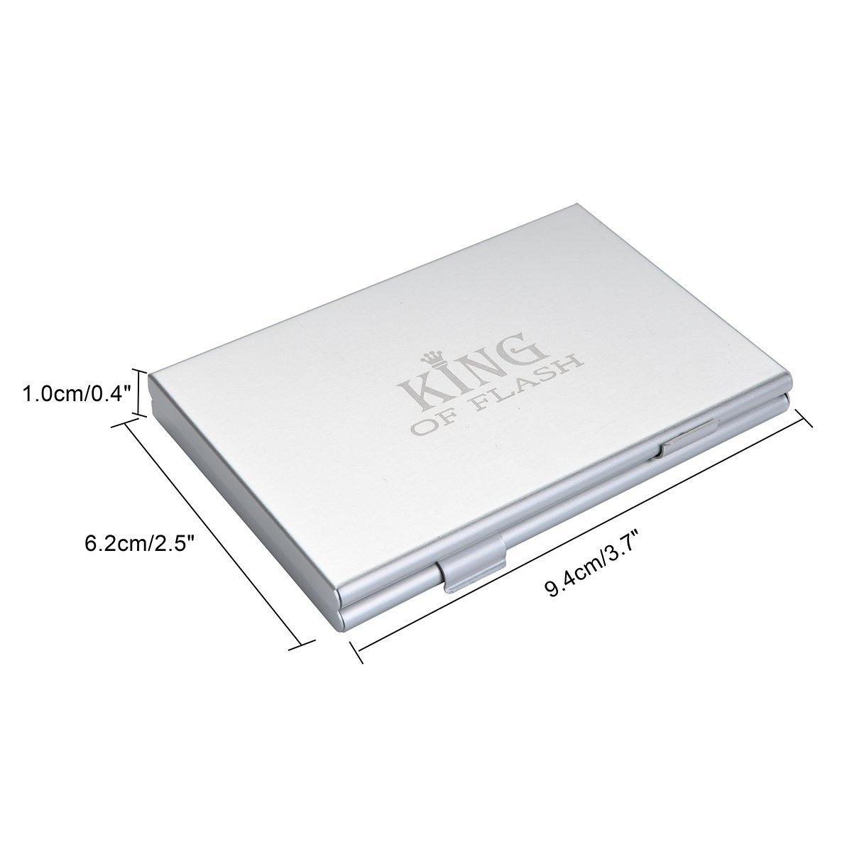 4 x Nano SIM 4 x Micro SIM PROfoto.Trend//JJC Water Resistant Mini Memory Card Carrying Case for 4 x SIM Includes 1 x SIM Tray Ejector Tool Blue