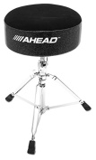 Ahead Drum Throne 36cm Round, 13cm Thick Black Cloth Top/Black Sparkle Sides, Embroidered Logo
