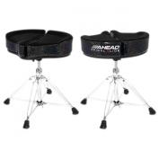Ahead Spinal G Drum Throne Black Cloth Top/Black Sparkle Sides 46cm