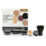 Purely The Basics Kit - #Tan (2xFoundation, 1xMineral Blush, 1xSetting Powder, 1xBrush, 1xMineral Powder), 6pcs