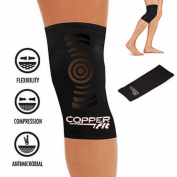 SET of 2 Copper Fit KNEE BRACE Compression Sleeve As Seen on TV Joint Pain Size Medium