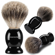 Perfecto 100% Pure Badger Shaving Brush--Now with choice of Original or Black and Silver handle!!!