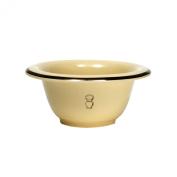 Shaving Bowl, Cream, Porcelain, With Silver Rim