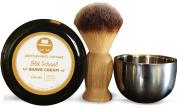 Gentleman's Hangar Essential Shave Kit with Old School Sandalwood Shave Cream & Brush