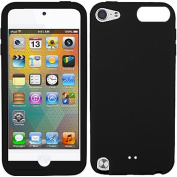 Black Silicon Soft Rubber Skin Case Cover For Apple iPod Touch iTouch 5