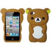 Brown Bear Silicon Soft Rubber Skin Case Cover For Apple iPod Touch iTouch 4 4G
