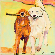 Trademark Fine Art Stick With Me by Pat Saunders-White Canvas Wall Art, 60cm x 60cm