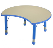 Cozy4Kids Adjustable Moon Shaped Plastic Activity Table with Dry Erase Top, Monster Blue