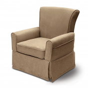 Delta Furniture Benbridge Upholstered Glider Swivel Rocker Chair, Beige