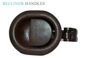 Recliner-Handles Small Oval Recliner Handle Recliner Handle only no Recliner Cable Brown Finish 3mm Barrel Cable Hole