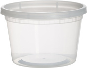 Paksh Novelty Clear Deli Food Containers with Lids, Microwave and Freezer Safe, 36 pack, 470ml