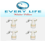 Plastic Faucet 4-pack, White, Spigot, 1.9cm , Water Beverage Dispenser, Gravity Feed, Made in the USA, Fda-approved, with Washers and Nuts