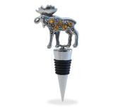 Cheers Metal Wine Stopper - Moose