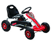 Vroom Rider Speedy Pedal Go-Kart Ride Ons with Pneumatic Tyre, Red