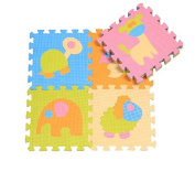 Animal Kindom For Kids -Baby Play Mat Kids Playmats Toddlers Crawing Mats Children Game Puzzle Mat- Environmental Soft Foam Mats,Safe To Use-9pcs Pack